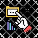 Hand Showing Folder Icon