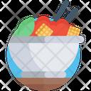 Ice Bowl Food Bowl Dessert Bowl Icon
