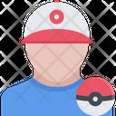 Pokemon Trainer Icon Vector Icon