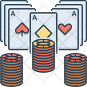 Poker Poker Chip Card Icon