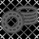 Poker Chip Token Icon