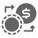 Poker Chip Exchange Icon