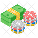 Bet Chip Casino Coin Gambling Icon