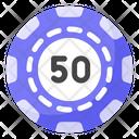 Casino Coin Money Coin Poker Chip Icon