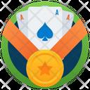 Poker Medal Icon