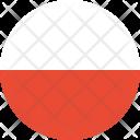 Poland Flag Country Icon
