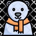 Polar Bear Winter Icon