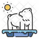 Polar ice melting Icon