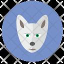 Polar Wolf Head Icon