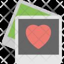 Polaroid With Heart Icon