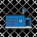 Police Station Smalltown Icon