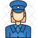 Avatar Female Police Icon