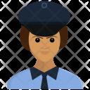 Police Avatar Girl Icon