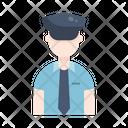 Police Man Cop Icon