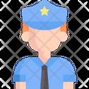 Police Security Guard Policemen Icon