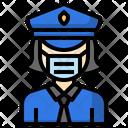 Police Profession Female Icon