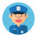 Police Cop Male Icon