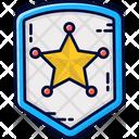 Police Badge Sheriff Badge Icon