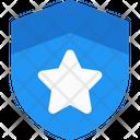 Police Badge One Stripe Shield One Shield Icon