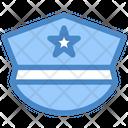 Police Cap Justice Officer Cap Icon
