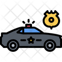Machine Badge Police Icon