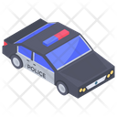 Police Car Vehicle Transport Icon