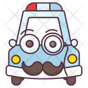 Police Car Transport Vehicle Icon