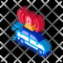 Flashing Police Car Icon