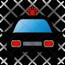 Car Police Black Icon
