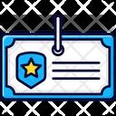 Police Card Identity Id Icon