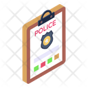 Police Record Police Complaint Police File Icon