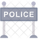 Police Fence Police Barrier Police Board Icon