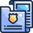 Police Folder Criminal Data Criminal Information Icon