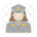 Police Girl Law Justice Icon