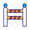Police Line Barrier Fences Icon