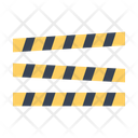 Police Line Line Crime Icon