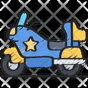 Police Motorbike Vehicle Policing Icon