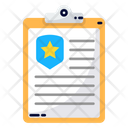 Police Notepad Clipboard Notes Icon