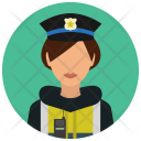 Officer Police Road Icon