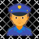 Boy Cap Cop Icon