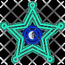 Police Sheriff Sheriff Police Star Icon