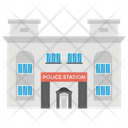 Police Station Police Headquarters House Police Icon