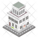 Building Architecture Police Station Icon