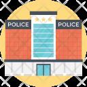 Police Station Headquarter Icon