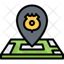 Police Station Location Icon