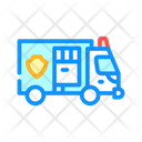 Police Truck Color Icon