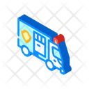 Police Truck Isometric Icon