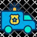 Police Van Siren Police Vehicle Icon