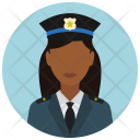 Police Chief Woman Icon
