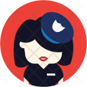 Police Officer Woman Icon